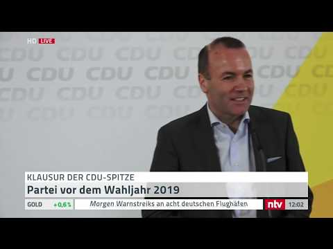 Manfred Weber, gemeinsamer Kandidat von CDU & CSU für d ...