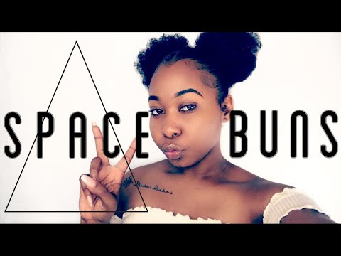 How To: Space Buns/2 Puffs On Short To Medium Natural Hair | Protective Style | Kinzey Rae