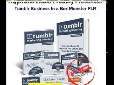 WSO & JVZoo Reviews: Tumblr Business in a Box Review and Bonuses – Tumblr marketing made easy!