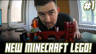 LEGO Minecraft NETHER FORTRESS 21122 Time Lapse Build and Q&A!!!