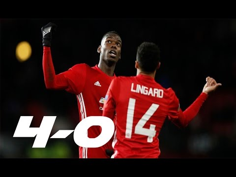 Manchester United vs Feyenoord 4-0 (All Goals) Resumen y Goles | Europa League