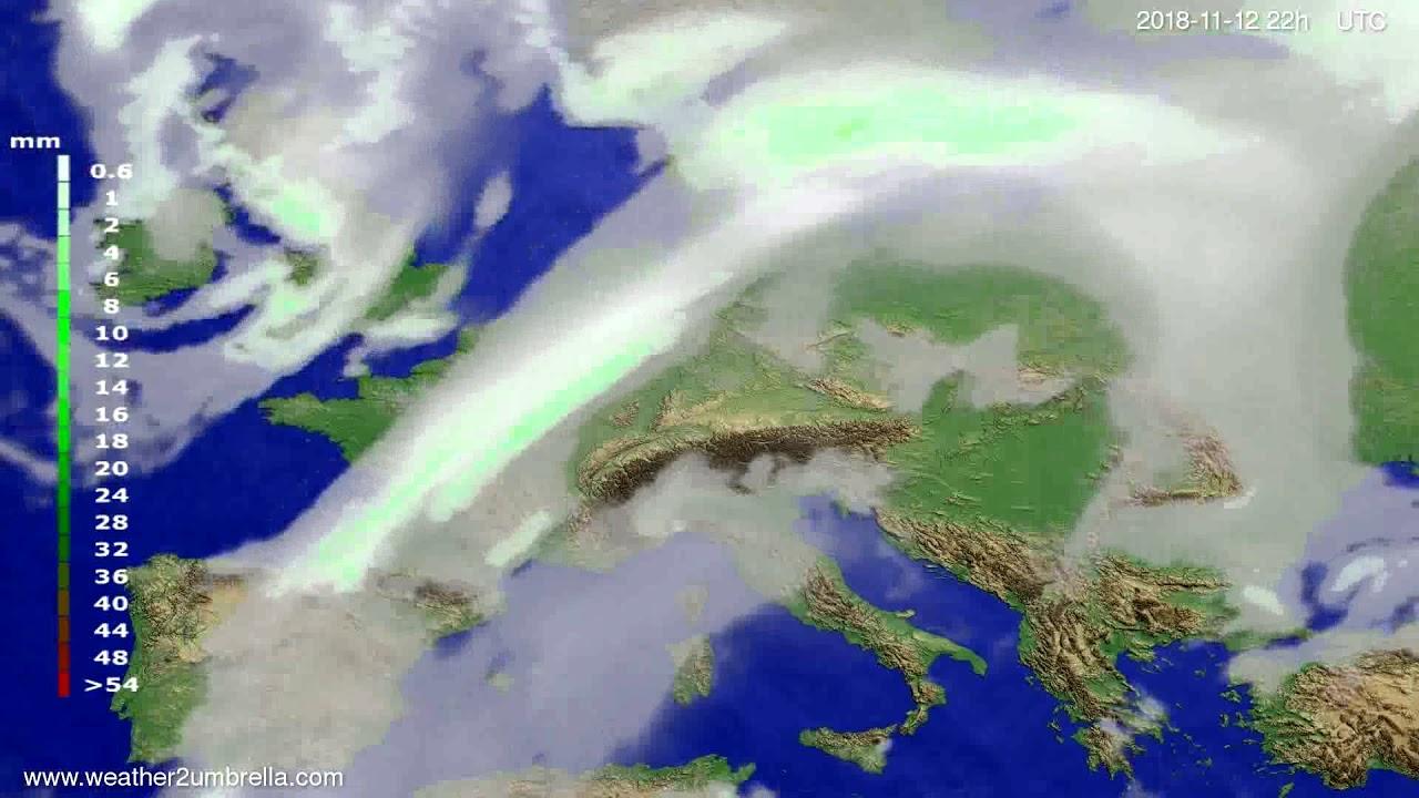 Precipitation forecast Europe 2018-11-10