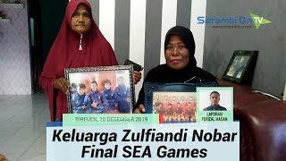 Keluarga Zulfiandi Nobar Timnas U-22 di Bireuen