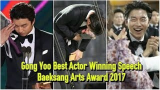 Video ENG SUB Baeksang Arts Award 2017 Gong Yoo 공유 Best Actor (Drama) Winning Speech MP3, 3GP, MP4, WEBM, AVI, FLV Januari 2018