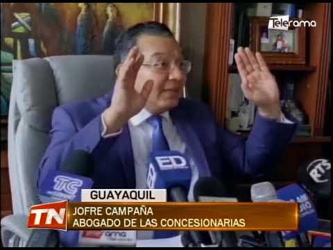 Prefectura del Guayas terminó contrato de concesión con CONCEGUA y CONORTE