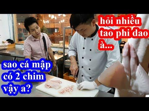 Lần đầu ăn cá mập khổng lồ hai lúa vào giám sát đầu bếp nhà hàng chế biến và cái kết cười ngất - Thời lượng: 46 phút.