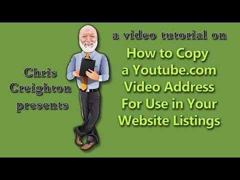 Locate and Copy a Youtube Video Address