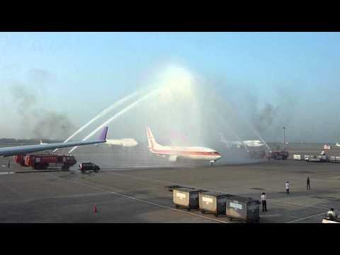 Garuda Indonesia , B738 , PK-GFN , GA852 , Jakarta to Taipei @ TaoYuan Airport , Taiwan
