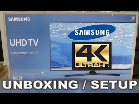 Samsung 6 Series 6300 4K TV: Unboxing & Setup