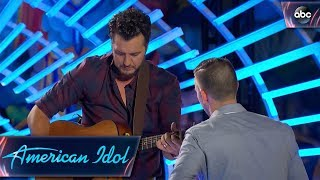 Video Luke Bryan Helps Out Auditioner by Tuning His Guitar - American Idol 2018 on ABC MP3, 3GP, MP4, WEBM, AVI, FLV Maret 2018