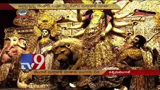 Gold Saree for Goddess Kali in West Bengal