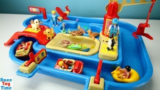 Hi kids, racetoytime here! Today, we are going to show and play in the water and sand with fun sea animals toys. In this video, we included some playmobil figures and animals. You will find sword fish, crab, turtle, sea horse, jelly fish, penguin, and many more! Please be sure to subscribe to our channel if you haven't already, and like and share our videos. We have a lot of videos on our channel. Watch them all! We'll make more! Comment below if you like and as always, thanks for watching!Subscribe to racetoytime here - https://www.youtube.com/channel/UCVTQrl1dtafYX08IBb7EhrwWatch our other videos:  Learn Animal Toys Names │ Zoo Animals Elephant Lion Tiger Rhino for Kids - https://www.youtube.com/watch?v=KnsmONvQyeYLearning Sea Animals Toy Sharks Whales Dolphin - https://www.youtube.com/watch?v=9i88w4UqPnADinosaur Surprise Toys Game in the Claw Machine -  Learn Dinosaurs Names For Children - https://www.youtube.com/watch?v=H8AkVqFrxhoJurassic World Mini Dinosaurs Figures Blind Bag Exclusive Indominus Rex  - https://www.youtube.com/watch?v=_bgyS74lUR8Playmobil City Zoo Toy Wild Animals Building Set Build Review - https://www.youtube.com/watch?v=g5dbYcmUHZ8Playmobil City Life Large Zoo Toy Wild Animals Building Set Build Review - https://www.youtube.com/watch?v=IZXfiFPyW8EDinosaurs 3D Puzzles Animals Eggs Surprise Toys - Spinosaurus Ankylosaurus Pteranodon - https://www.youtube.com/watch?v=VJuukvLmpSgDinosaur Transforming Eggs Toys - Tyrannosaurus Rex Pterodactyl Velociraptor Triceratops - https://youtu.be/HT_CFeMP9GkToy Wild Animals 3D Puzzles Collection - Lion Panda Elephant Zebra Tortoise │ Animals for children - https://youtu.be/yabb98z1WC8Playmobil Toy Wild Zoo Animals Collection For Kids - Tiger Panda Koala Gorilla - https://youtu.be/L06I3WiWjNsPLAYMOBIL Country Farm Animals Pen and Hen House Building Set Build Review  - https://www.youtube.com/watch?v=dGplrNa-NZkPLAYMOBIL Toy Wild Zoo Animals Collection For Kids - Tiger Panda Koala Gorilla - https://youtu.be/L