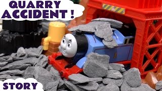 Thomas The Tank Engine Quarry Accident Prank | Play Doh Diggin Rigs Rescue | Tom Moss Animation