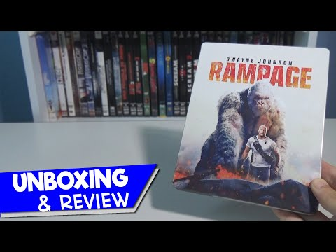 UNBOXING & REVIEW | RAMPAGE (Devastación) STEELBOOK (Blu-ray + DVD)