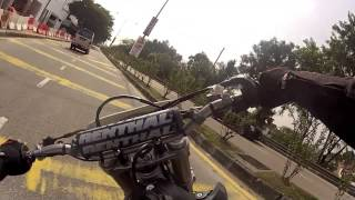 10. KLX450R supermoto take on public road