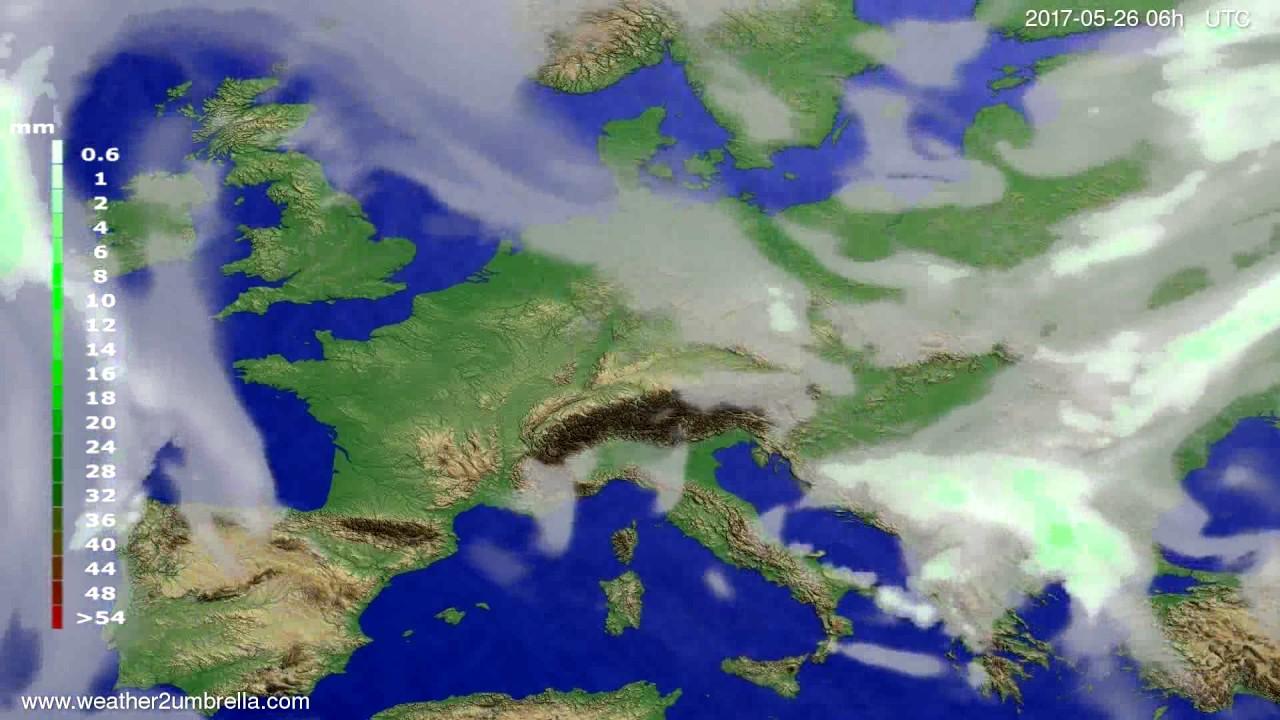 Precipitation forecast Europe 2017-05-23
