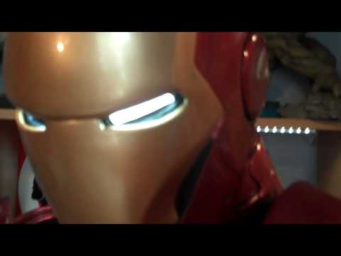 IRON MAN 1:2 Sideshow Collectibles First on hand video Part 2