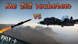 War Thunder Me-262 Rockets Vs Huge BOMBER Formation- War Thunder Jet Gameplay