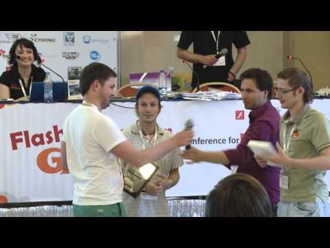 Награждение победителей конкурса игр Flash GAMM Moscow 2013