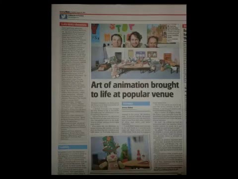 ZEY THE MOUSE Newspapers Articles 3 Fimo Stop Motion Exhibitions The Forum Norwich and King's Lynn