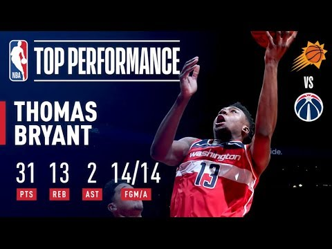 Video: Thomas Bryant Shoots A PERFECT 14-14 From The Field In Wizards 3OT Win! | December 22, 2018