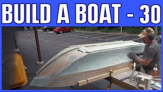 Download Video How to Build a Small Electric Wooden Boat #30 - Fiberglass Epoxy Peanut Butter MP3 3GP MP4