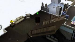 A sim gets naked at a university party and goes streaking through the co-ed dormitory!