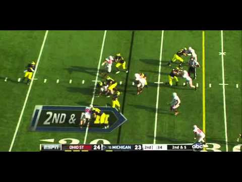 Taylor Lewan vs Ohio State 2011 video.