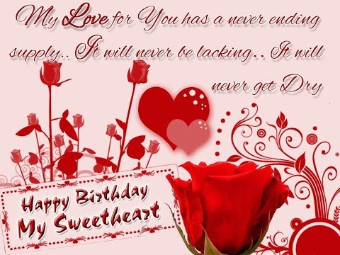 Video happy birthday sweetheart wishes,whatsapp video message with beautiful quotes download in MP3, 3GP, MP4, WEBM, AVI, FLV January 2017