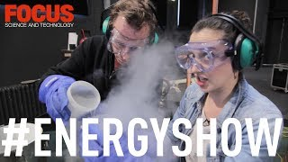 What happens when you pour liquid nitrogen into a plastic bottle? We go behind the scenes at London Science Museum's 'The Energy Show' to find out...