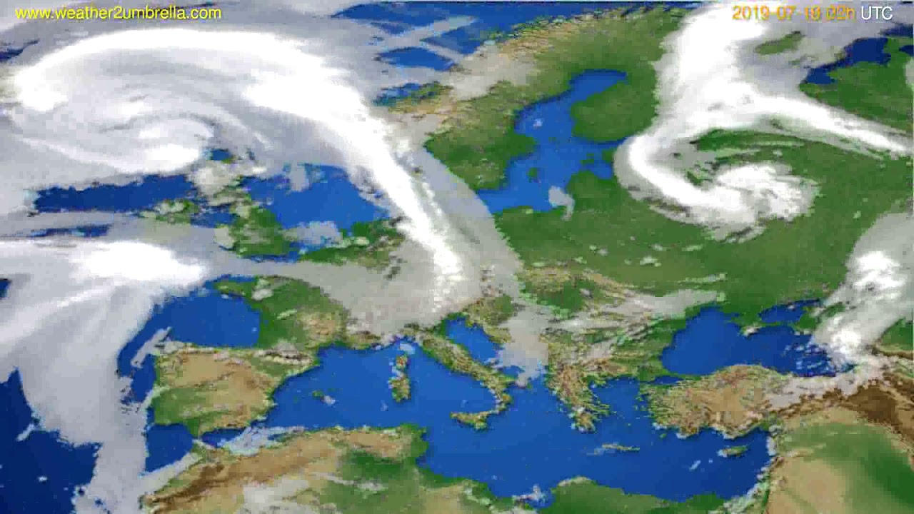 Cloud forecast Europe // modelrun: 12h UTC 2019-07-16