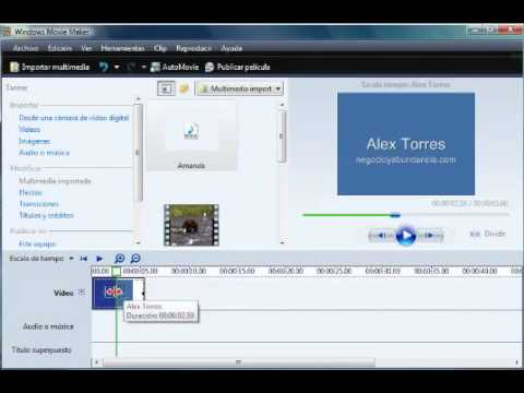 Video 5 de Windows Movie Maker: Cómo editar un video con Movie Maker