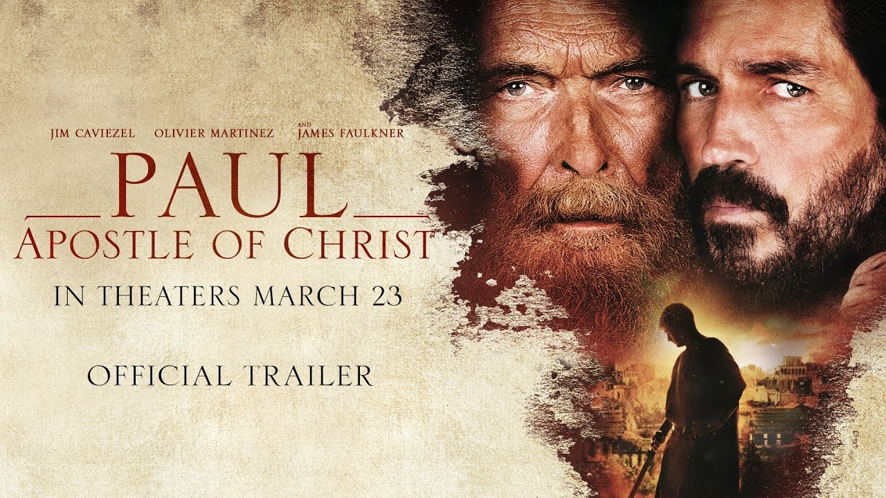 Jim Caviezel is Luke writing Paul's Story in Drama 'Paul, Apostle of Christ' (Trailer) with James Faulkner & Olivier Martinez