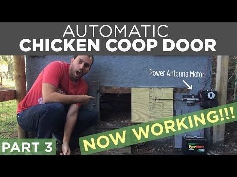 Diy automatic chicken coop door opener build part 3 for D20 chicken coop motor door