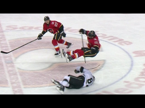 Video: Doughty ducks out of the way of huge Tkachuk hit
