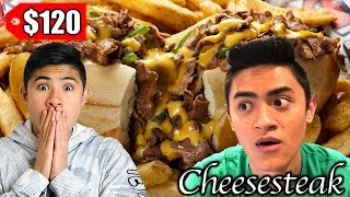 $7 Philly Cheesesteak vs $120 Philly Cheesesteak...WORTH IT?