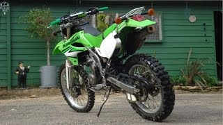 10. 2007 Kawasaki KLX250 riding around