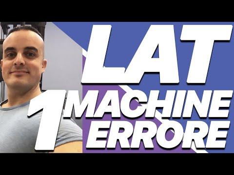 Esercizi Schiena: Errore da Evitare alla Lat Machine