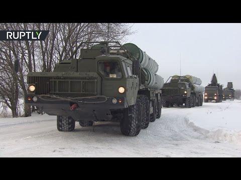 Зенитный ракетный полк C-400 заступил на боевое дежурство в Подмосковье (видео)