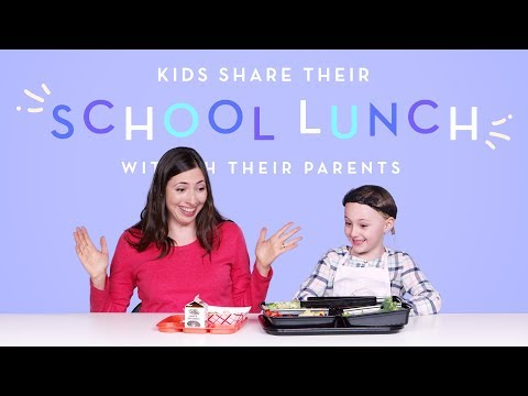Kids Share Their School Lunch With Their Parents | Kids Try | HiHo Kids
