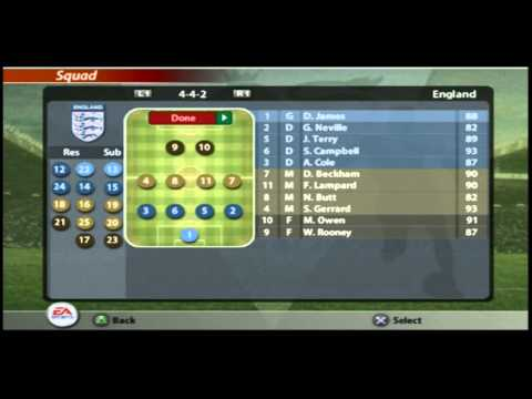 FIFA 2005 Ridiculous Overpowered Player Ratings! (FIFA 05 Team/Squad Screenshots)