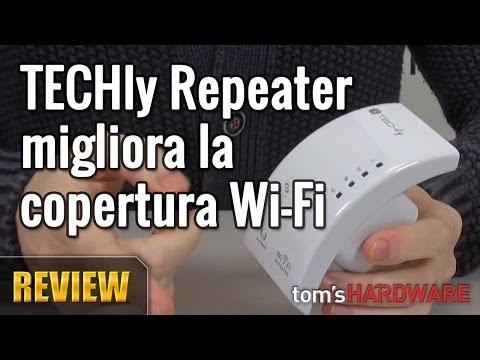 TECHly Repeater Wi-Fi, migliora la copertura Wi-Fi