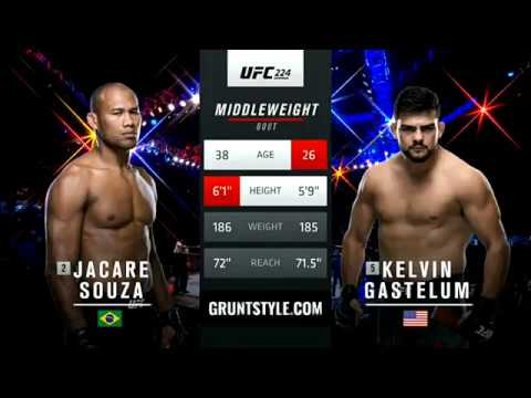 Jacare Souza vs Kelvin Gastelum Full Fight UFC 224 Part 1