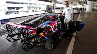 CANCELED UBER FOR A LYFT IN THIS WILD LAMBORGHINI! *Best LAX Car Service*