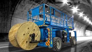 Kabeltrekking med tunnelliften