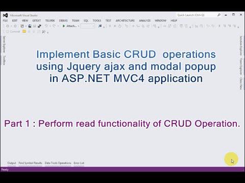 Part 1 - Basic CRUD Operations Using…