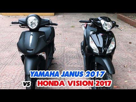 Honda Vision  và Yamaha Janus  ▶ So sánh bản Đen Nhám!