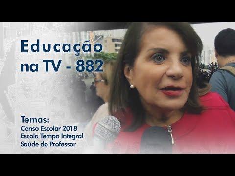 Censo Escolar 2018 / Escola Tempo Integral / Saúde do Professor