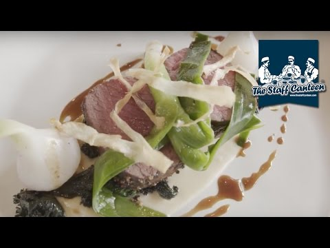 Luke Matthews creates peppered venison loin and stone bass recipes
