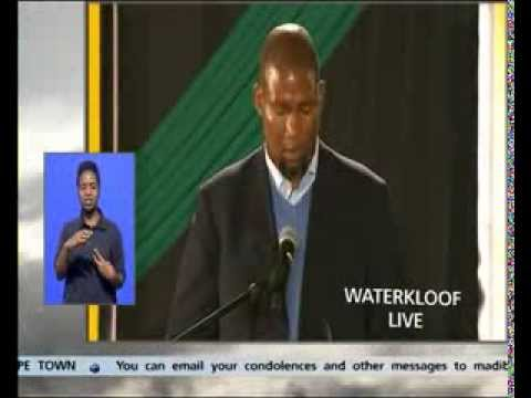 Mandla Mandela at Madiba's send-off at Waterkloof